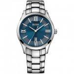 ヒューゴボス 腕時計 メンズ ブラック 1513034 ブルー×シルバー