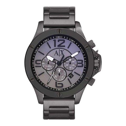 アルマーニエクスチェンジ 腕時計 メンズ ウェルウォーン AX1514 グレー×ガンメタル
