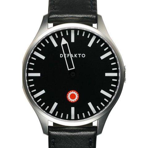 Defakto(ディファクト) 腕時計 自動巻き ブラック×ステンレススチールケース