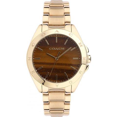 コーチ 腕時計 トリステン 14502053 ブラウン×ゴールド