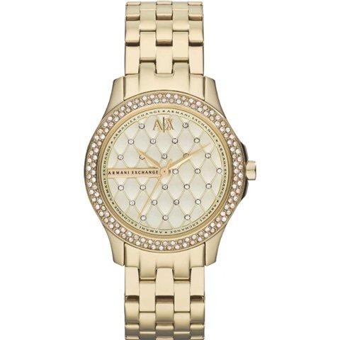アルマーニエクスチェンジ 腕時計 レディース AX5216 シャンパン×ゴールド