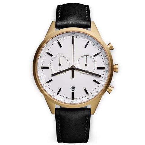 ユニフォームウェアーズ 腕時計 C-Line C41 ゴールドケース×ブラックレザー