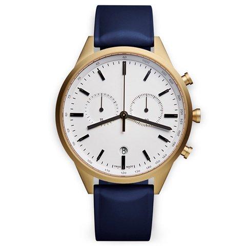 ユニフォームウェアーズ 腕時計 C41 ゴールドケース×ブルーラバー
