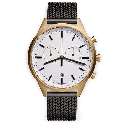 ユニフォームウェアーズ 腕時計  C41 ブラックミラネーゼメッシュベルト