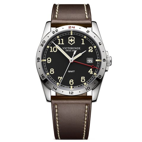 ビクトリノックス 腕時計 インファントリー 241648 ブラック×ブラウン