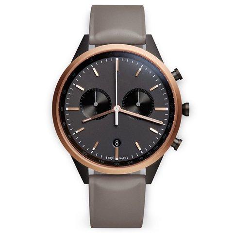ユニフォームウェアーズ 腕時計 C41 ローズゴールド×グレーラバー