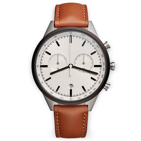 ユニフォームウェアーズ 腕時計 C41 グレーケース×タンレザー
