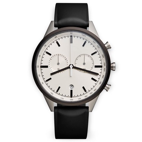 ユニフォームウェアーズ 腕時計 C41 グレーケース×ブラックラバー