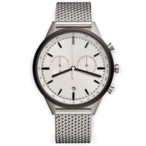 ユニフォームウェアーズ 腕時計  C41 グレー×ブラッシュミラネーゼメッシュベルト