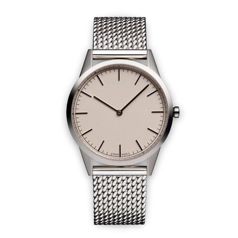 ユニフォームウェアーズ 腕時計 C35 ポリッシュドミラネーゼメッシュベルト