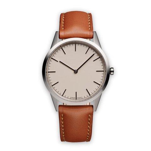 ユニフォームウェアーズ 腕時計 C35 ポリッシュドステンレス×タンレザー