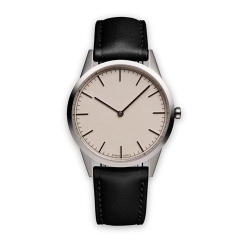 ユニフォームウェアーズ 腕時計 C35 ポリッシュドステンレス×ブラックレザー