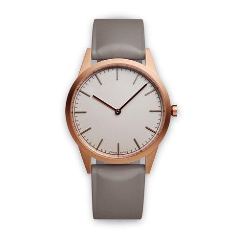 ユニフォームウェアーズ 腕時計 C35 グレー×ローズゴールド×グレーラバー