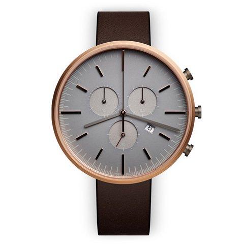 ユニフォームウェアーズ 腕時計 M42 ローズゴールド×ブラウンナッパーレザー