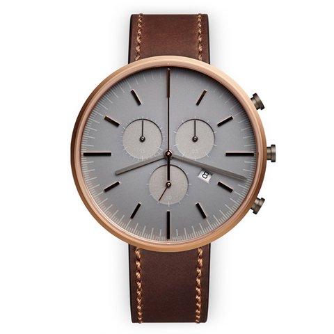 ユニフォームウェアーズ 腕時計 M42 ローズゴールド×ブラウンシェルコードバンレザーベルト