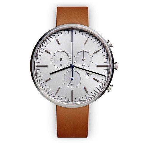 ユニフォームウェアーズ 腕時計 M42 ポリッシュドスチール×タンレザー