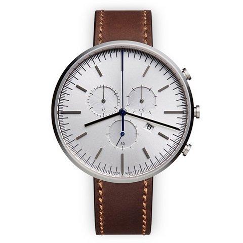 ユニフォームウェアーズ 腕時計 M42 ポリッシュドスチール×ブラウンシェルコードバンレザーベルト