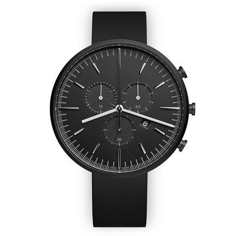 ユニフォームウェアーズ 腕時計 M42 ブラック×ブラックラバー