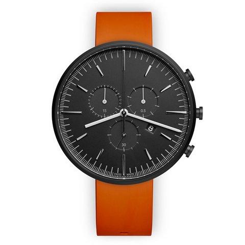 ユニフォームウェアーズ 腕時計 M42 ブラック×オレンジラバー