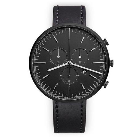ユニフォームウェアーズ 腕時計 M42 ブラック×ブラックシェルコードバンレザー