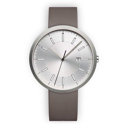 ユニフォームウェアーズ 腕時計 M40 ブラッシュドスチール×グレーラバー