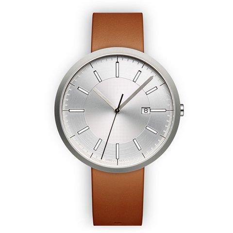 ユニフォームウェアーズ 腕時計 M40 ブラッシュドスチール×タンレザー
