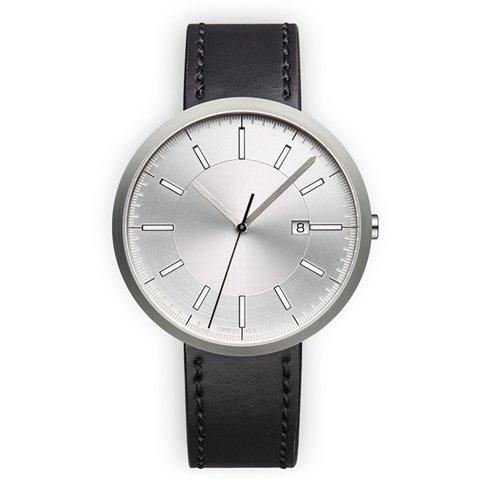 ユニフォームウェアーズ 腕時計 M40 ブラッシュドスチール×ブラックシェルコードバンレザー