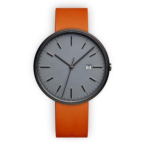 ユニフォームウェアーズ 腕時計 M40 グレー×オレンジラバー