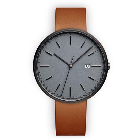 ユニフォームウェアーズ 腕時計 M40 グレー×タンレザー