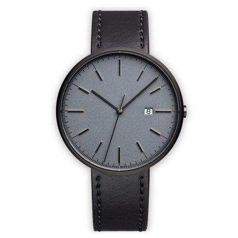 ユニフォームウェアーズ 腕時計 M40 グレー×ブラックシェルコードバンレザー