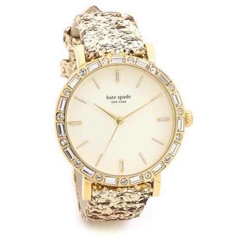 ケイトスペード 腕時計 1YRU0602A マザーオブパール×ラメレザー×バケッタストラップ