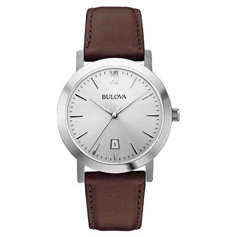 Bulova(ブローバ) 腕時計 メンズドレス 96B217 シルバー×ブラウンレザーベルト