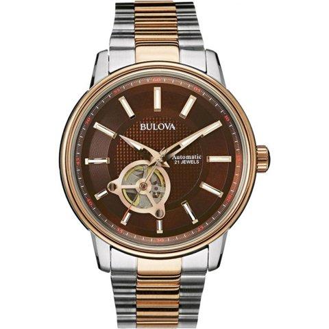 Bulova(ブローバ) 腕時計 オートマチック 98A140 ブラウン×ステンレススチール×ゴールド