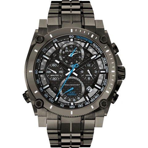 ブローバ 腕時計 プレシジョニスト 98B229 ブラック×ブラックステンレススチール
