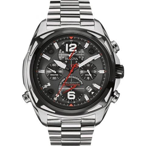ブローバ 腕時計 プレシジョニスト 98B227 ブラック×ステンレススチール
