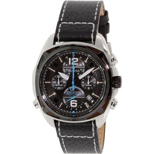 ブローバ 腕時計 プレシジョニスト 98B226 ブラック×ブラックレザーベルト