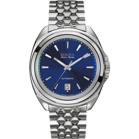ブローバ 腕時計 アキュスイス テルク 63B186 ブルー×ステンレススチール
