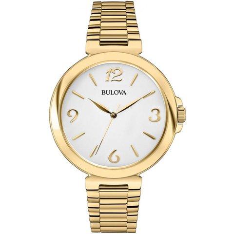 ブローバ 腕時計 レディース ドレスウォッチ 97L139 ホワイト×ゴールド