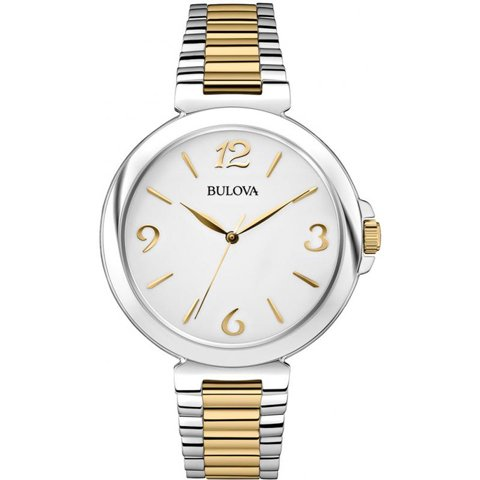 ブローバ 腕時計 レディース ドレスウォッチ 98L194 ホワイト×ゴールド×シルバー