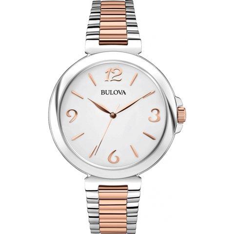 ブローバ 腕時計 レディース ドレスウォッチ 98L195 ホワイト×ローズゴールド×シルバー