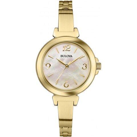 ブローバ 腕時計 レディース ドレスウォッチ 97L136 マザーオブパール×ゴールド
