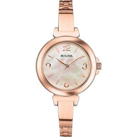 ブローバ 腕時計 レディース ドレスウォッチ 97L137 マザーオブパール×ローズゴールド