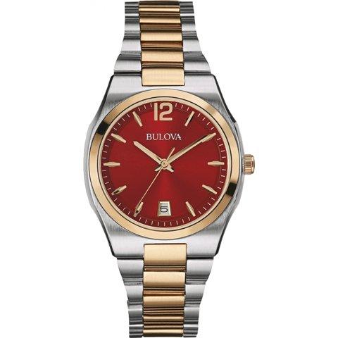 ブローバ 腕時計 レディース ドレスウォッチ 98M119 レッド×ローズゴールド
