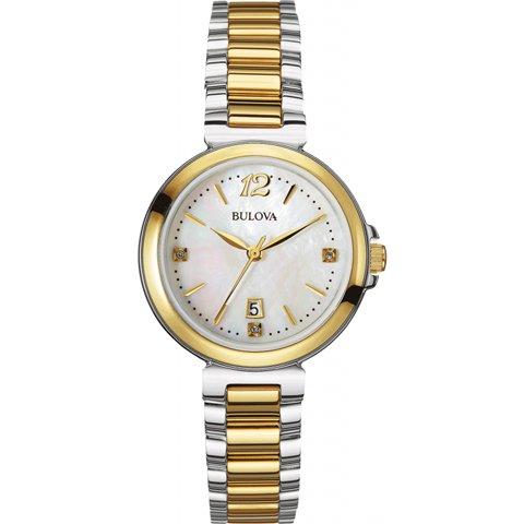 ブローバ 腕時計 レディース ダイヤモンドギャラリー 98P142 マザーオブパール×ゴールド