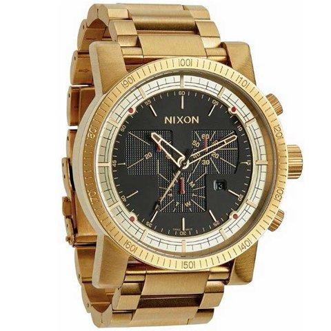 ニクソン 腕時計 マグナコン A457510 ブラック×ゴールド