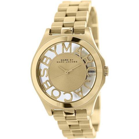 マークバイマークジェイコブス 腕時計 レディース ヘンリースケルトン MBM3292 ゴールド