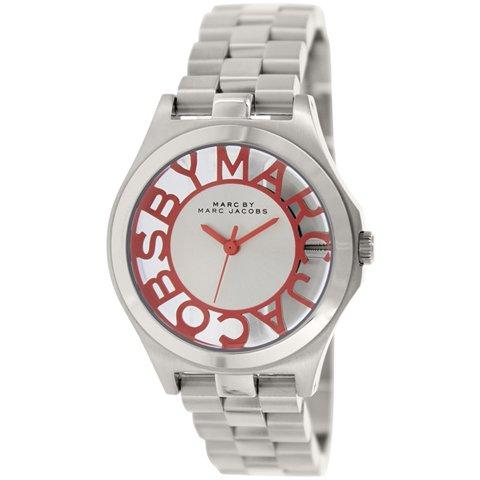 マークバイマークジェイコブス 腕時計 レディース ヘンリースケルトン MBM3294 ピンク×シルバー