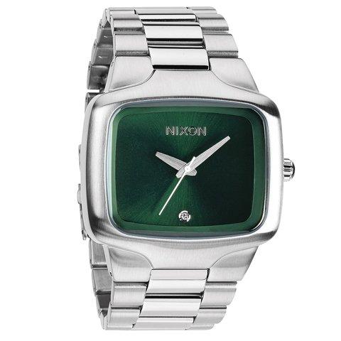 ニクソン 腕時計 ビッグプレイヤー A4871696 サンレイグリーン×シルバー
