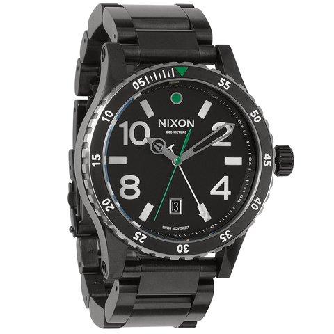 ニクソン 腕時計 ディプロマット GMT A2771421 ブラック×ブラック