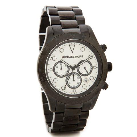 マイケルコース 時計 レディース レイトン MK6083   ホワイト×ブラック